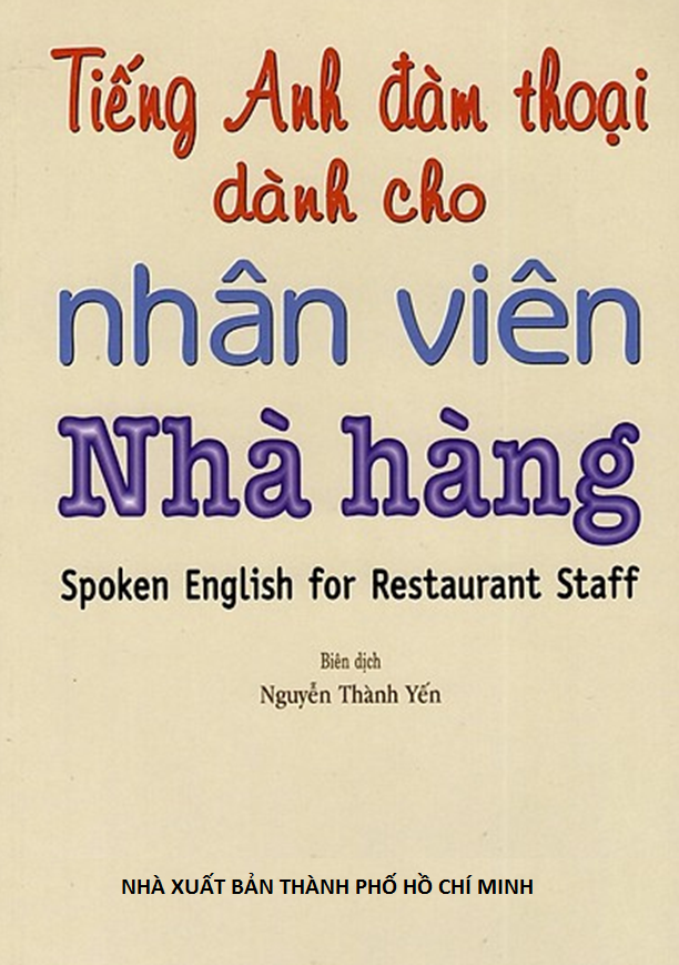 SPOKEN ENGLISH FOR RESTAURANT STAFF